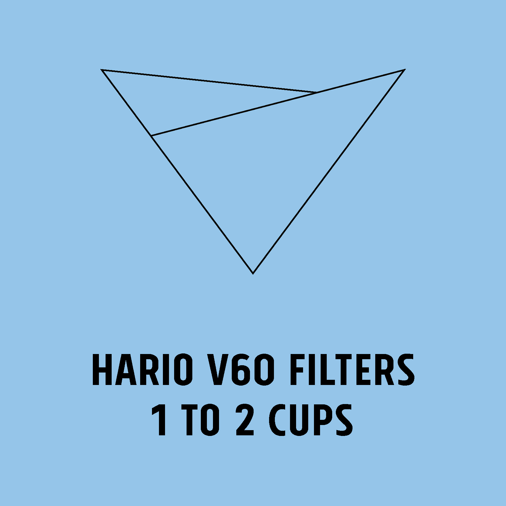 Hario V60 Filters - 1 to 2 cups
